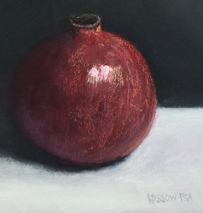 """Pomegranate"" original fine art by Cristine Kossow"