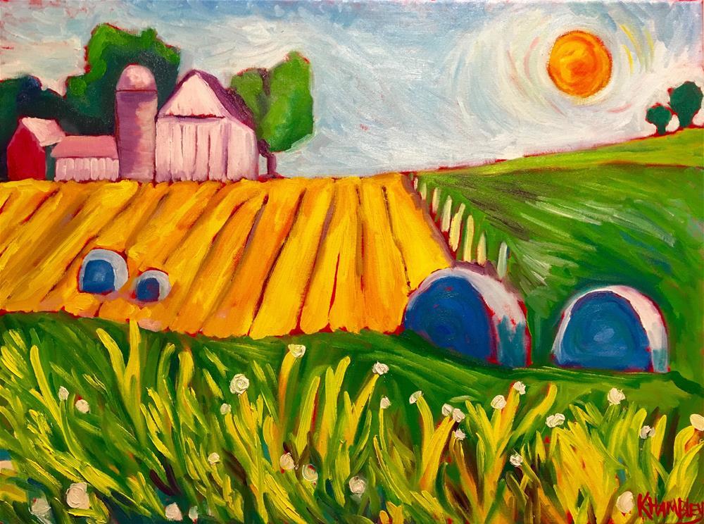 """Make Hay While The Sun Shines"" original fine art by Katherine Hambley"