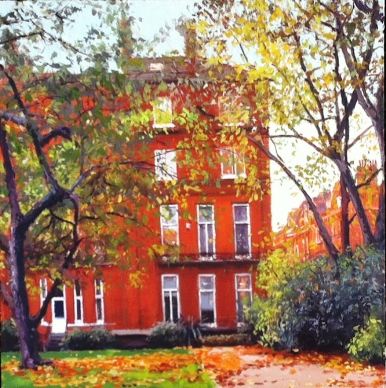 """Cadogan Gardens ( Back)"" original fine art by Adebanji Alade"
