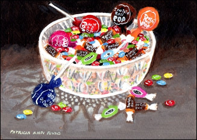 """My Candy Stash"" original fine art by Patricia Ann Rizzo"