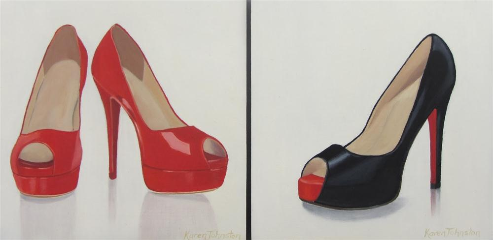 """Saucy Shoes"" original fine art by Karen Johnston"