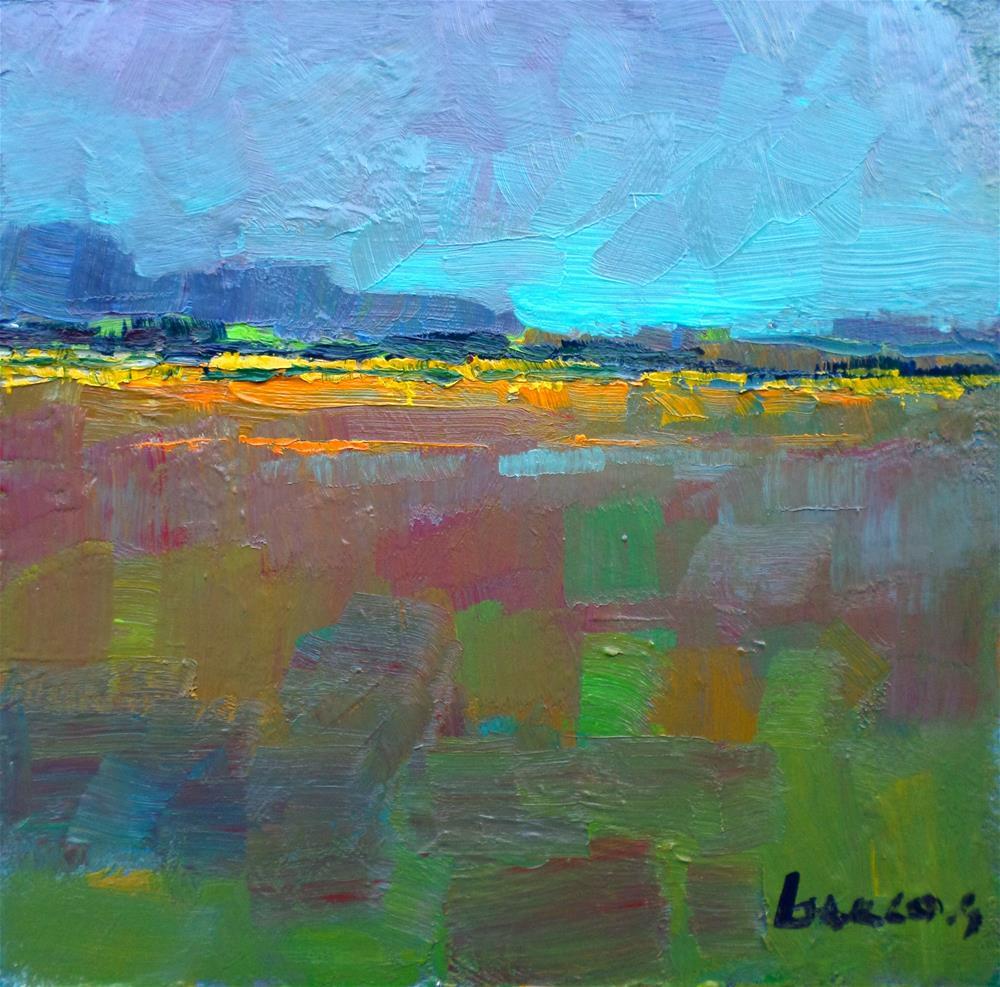 """""""Light in the field"""" original fine art by salvatore greco"""