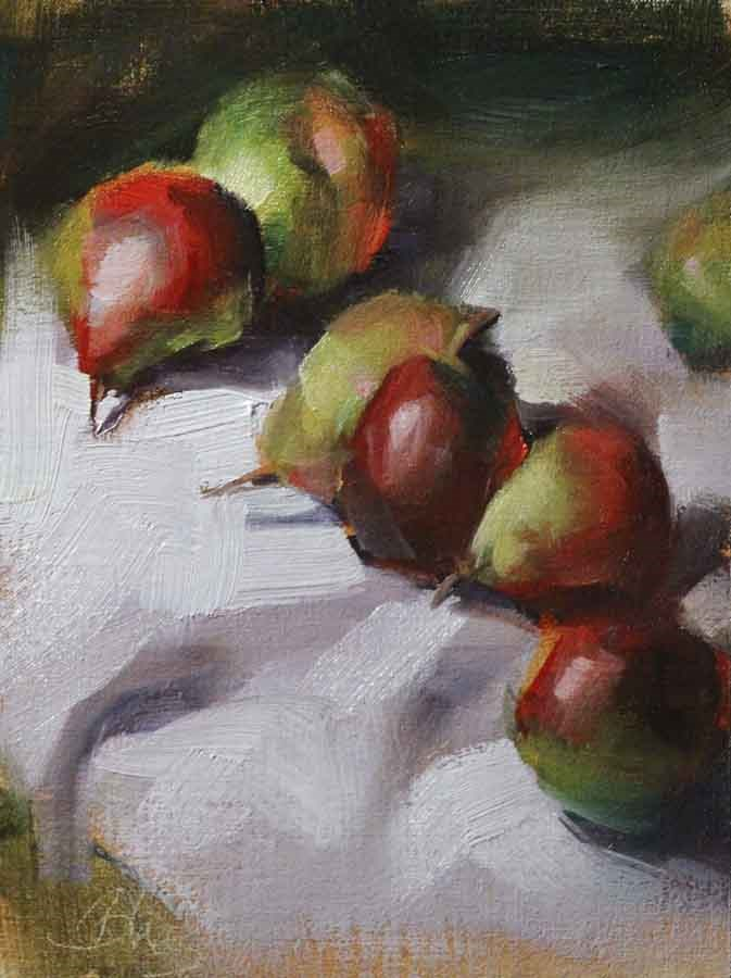 """Sugar Pears"" original fine art by Pamela Blaies"