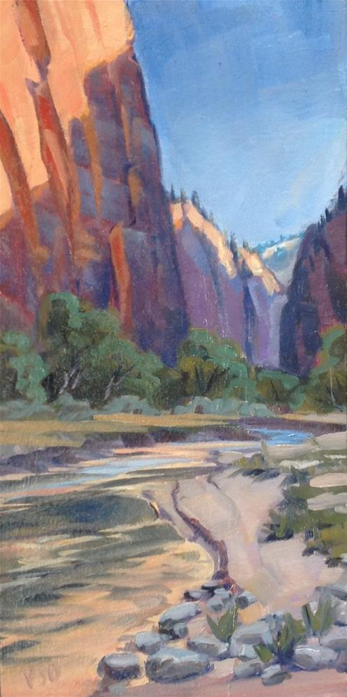 """Morning on the Virgin River"" original fine art by Valerie Orlemann"