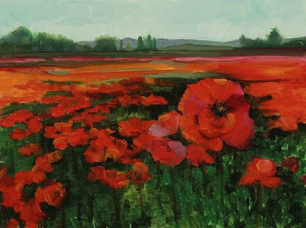 """Field of Poppes by Susan Fowler in Where ART Lives Magazine"" original fine art by Susan Fowler"