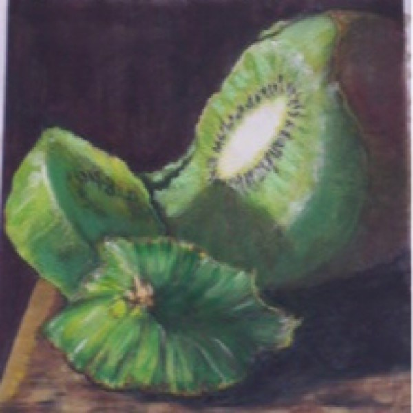 """Kiwi"" original fine art by Nelvia McGrath"