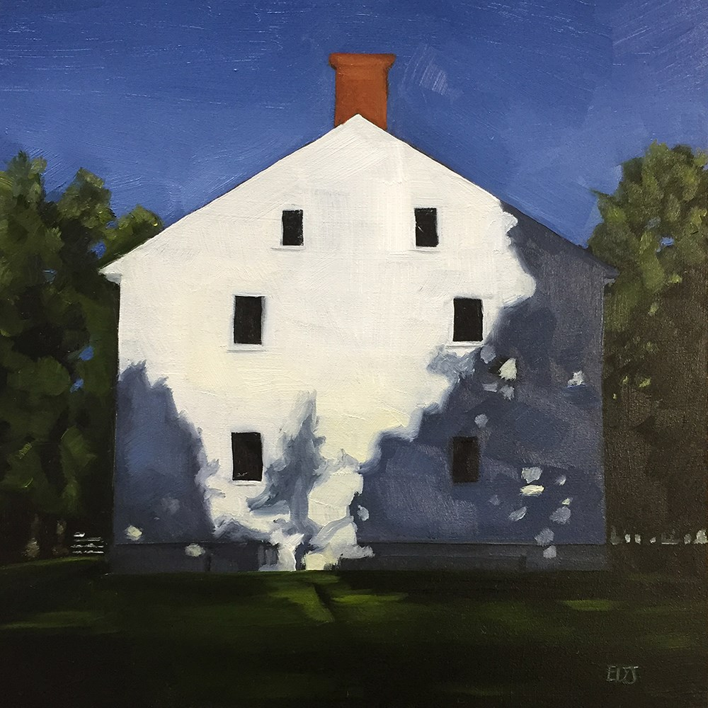 """Shaker House Two"" original fine art by Elizabeth Dawn Johnston"