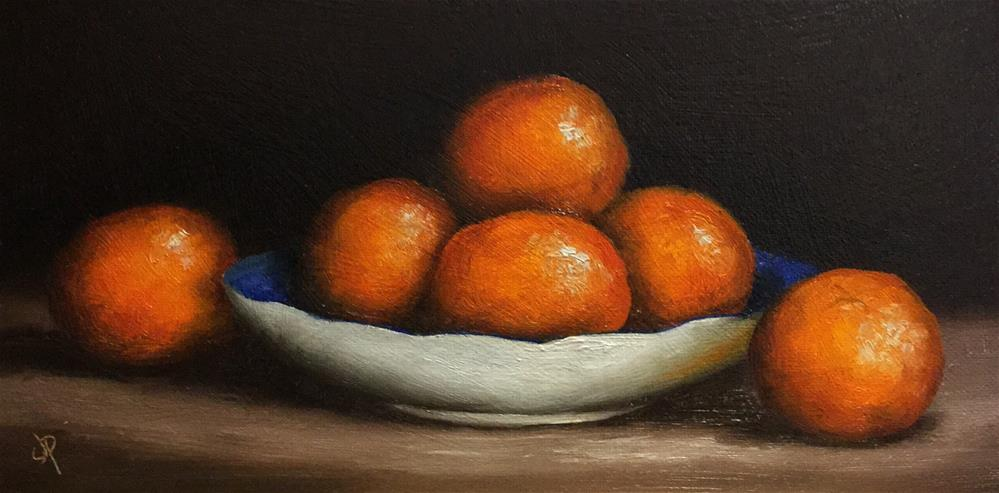 """Clementine dish"" original fine art by Jane Palmer"