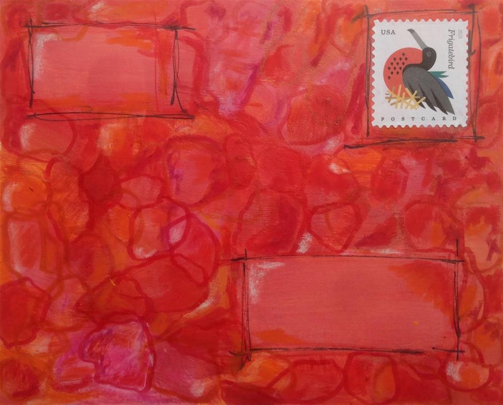 """""""Postcard 5"""" original fine art by Dotty  Seiter"""
