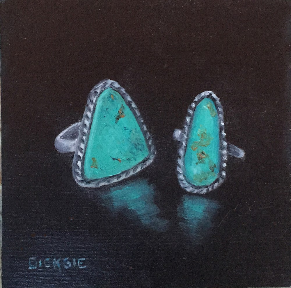 """Turquoise Rings"" original fine art by Dicksie McDaniel"