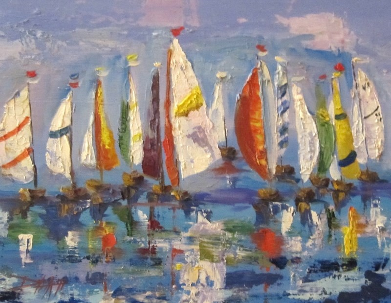 """Sailors Holiday"" original fine art by Delilah Smith"