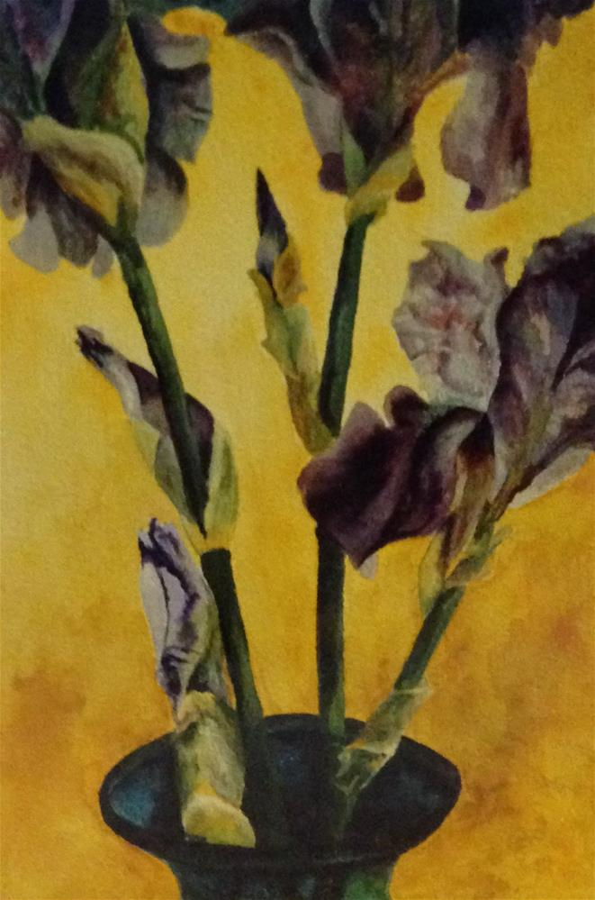 """Purple Iris"" original fine art by Karen Collins"
