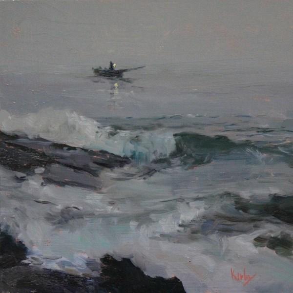 """""""Fisherman at Sea"""" original fine art by Randall Cogburn"""