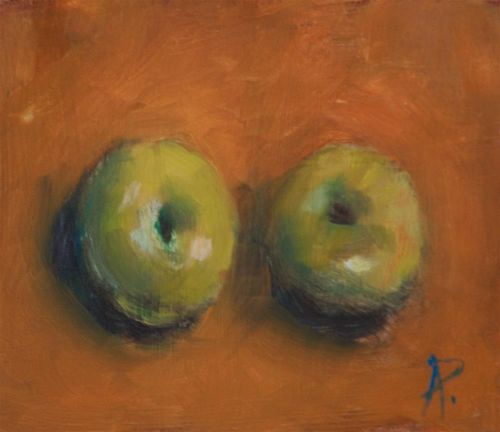 """Two Plums"" original fine art by Andre Pallat"