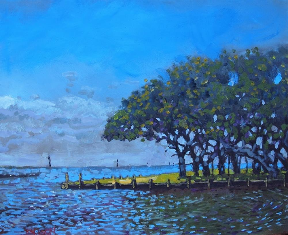 """Collington Harbor"" original fine art by Rick Nilson"