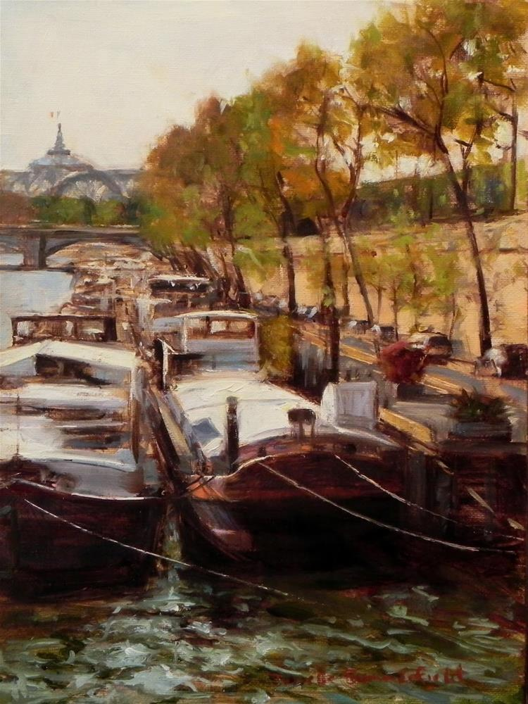 """Along the Seine"" original fine art by Jonelle Summerfield"