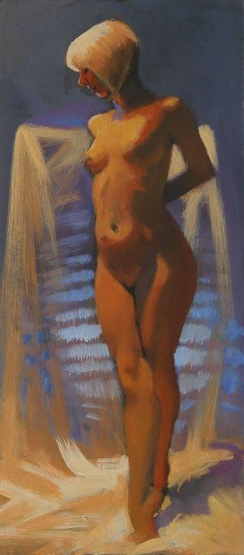 """Tip toe"" original fine art by Peter Orrock"