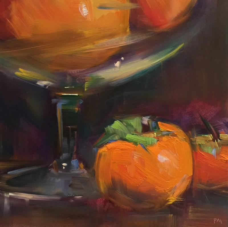 """Persimmons Pack a Punch"" original fine art by Patti McNutt"