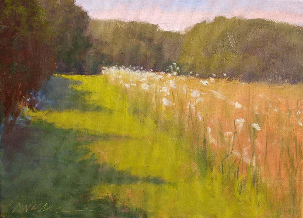 """#71 Field textures"" original fine art by Nancy Wallace"