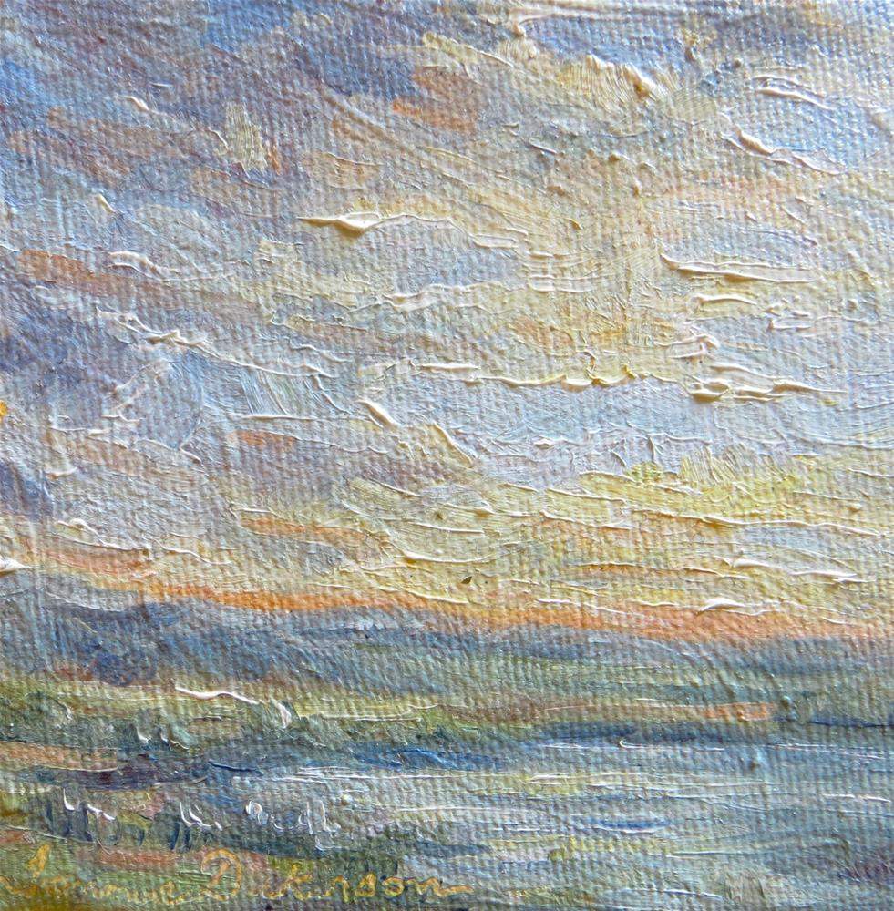 """Clouds Over the Water"" original fine art by Tammie Dickerson"