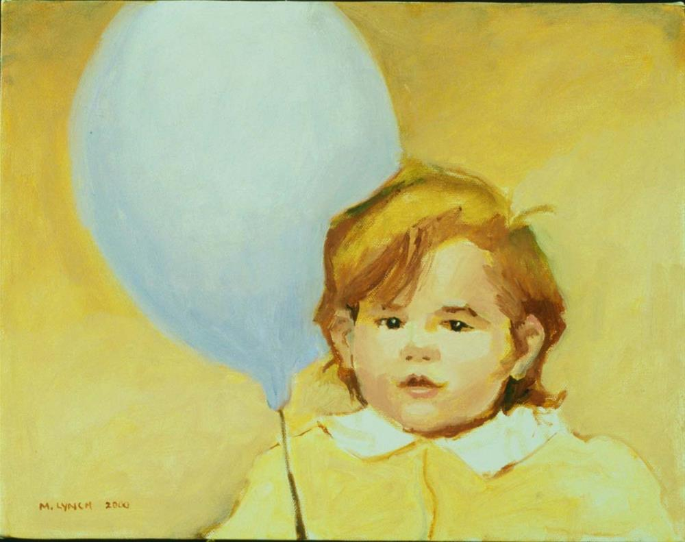 """Maggie's Balloon"" original fine art by Marie Lynch"