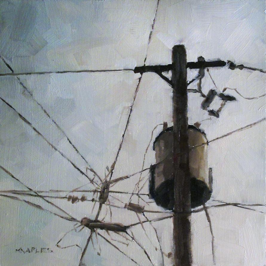 """Wire Crossing"" original fine art by Michael Naples"