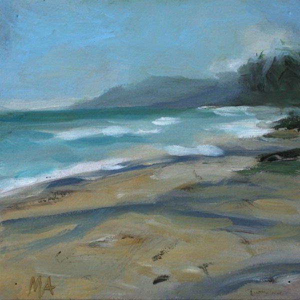 """Sandy Beach, Khanom"" original fine art by Aniko Makay"