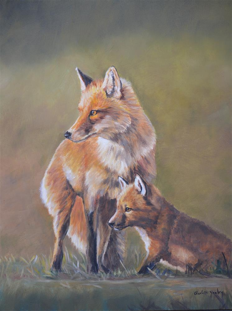 """Red Fox Parenting"" original fine art by Charlotte Yealey"