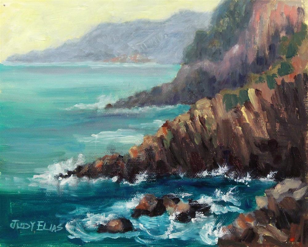 """""""A Vista in Cinque Terre"""" original fine art by Judy Elias"""