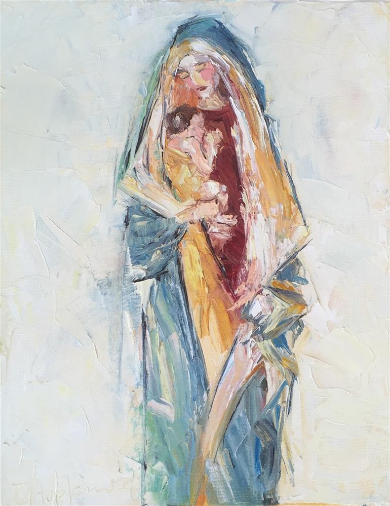 """Holding On"" original fine art by Denise Hopkins"