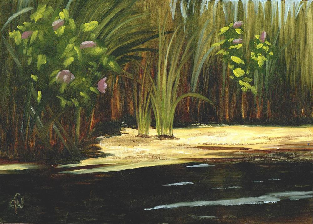 """Swamp Rose"" original fine art by Gary Westlake"