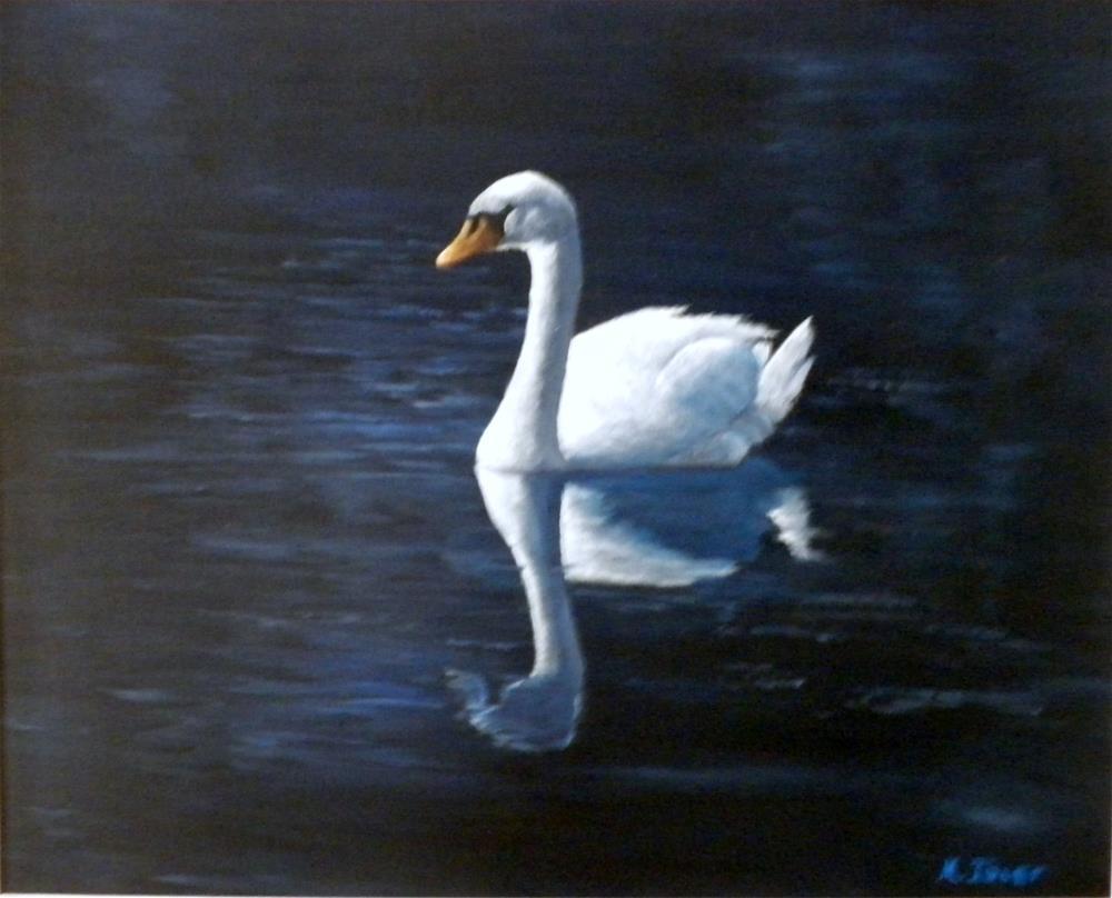 """Midnight Swan"" original fine art by Marti Idlet"