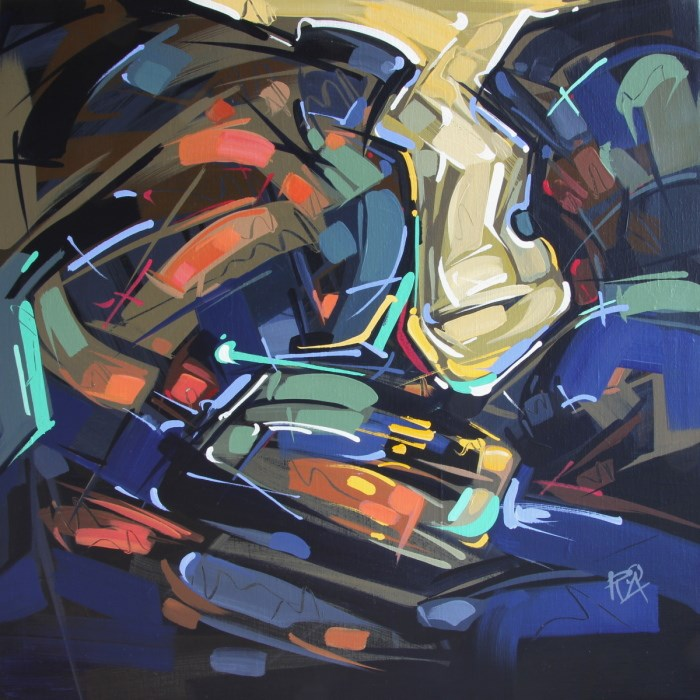 """Shapes & Movement 34"" original fine art by Roger Akesson"