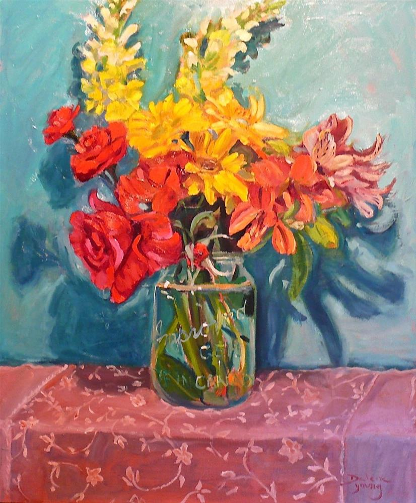 """670 Floral Bouquet"" original fine art by Darlene Young"