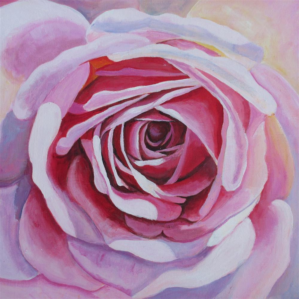 """""""Light Pink Rose Study"""" original fine art by Lisa Wiertel"""