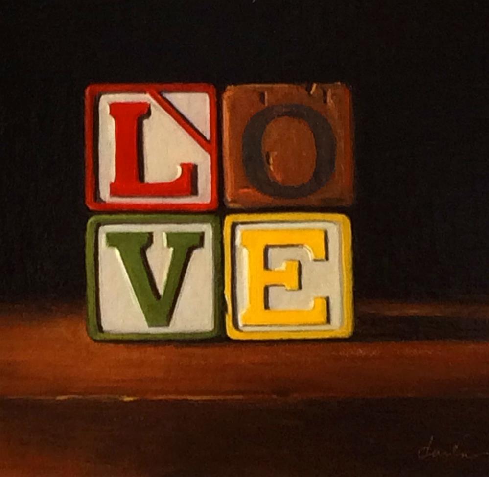 """""""LOVE"""" original fine art by Darla McDowell"""