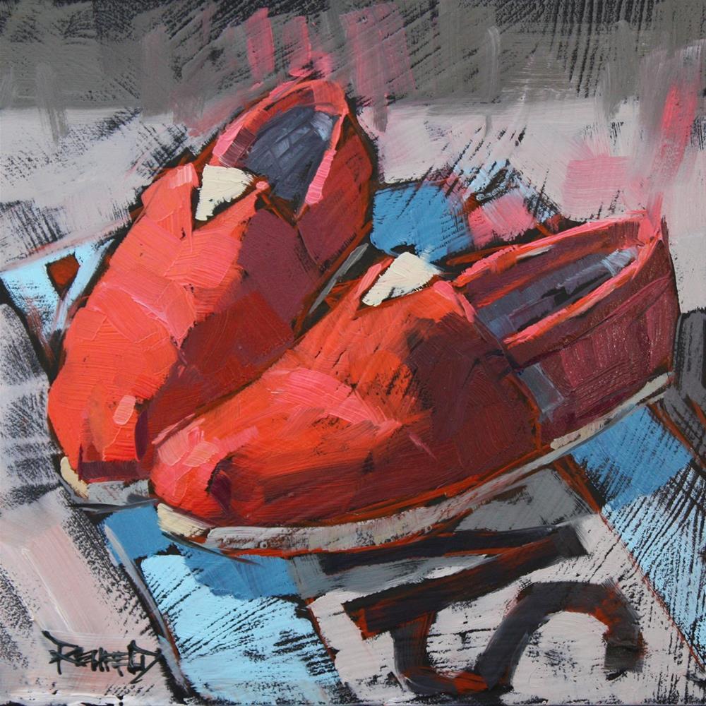 """""""Shoe Fiend! #1 Toms"""" original fine art by Cathleen Rehfeld"""