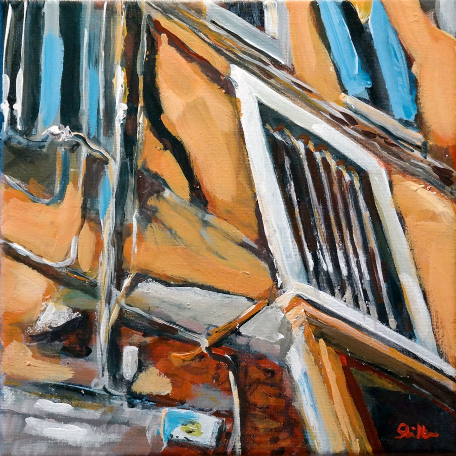"""1384 Strange Windows"" original fine art by Dietmar Stiller"