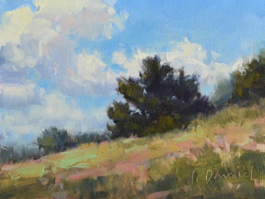 """Hillside Ridge Guardian - Tree Gesture 4"" original fine art by Laurel Daniel"