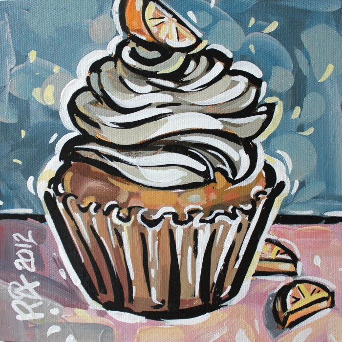 """Cupcake 5"" original fine art by Roger Akesson"