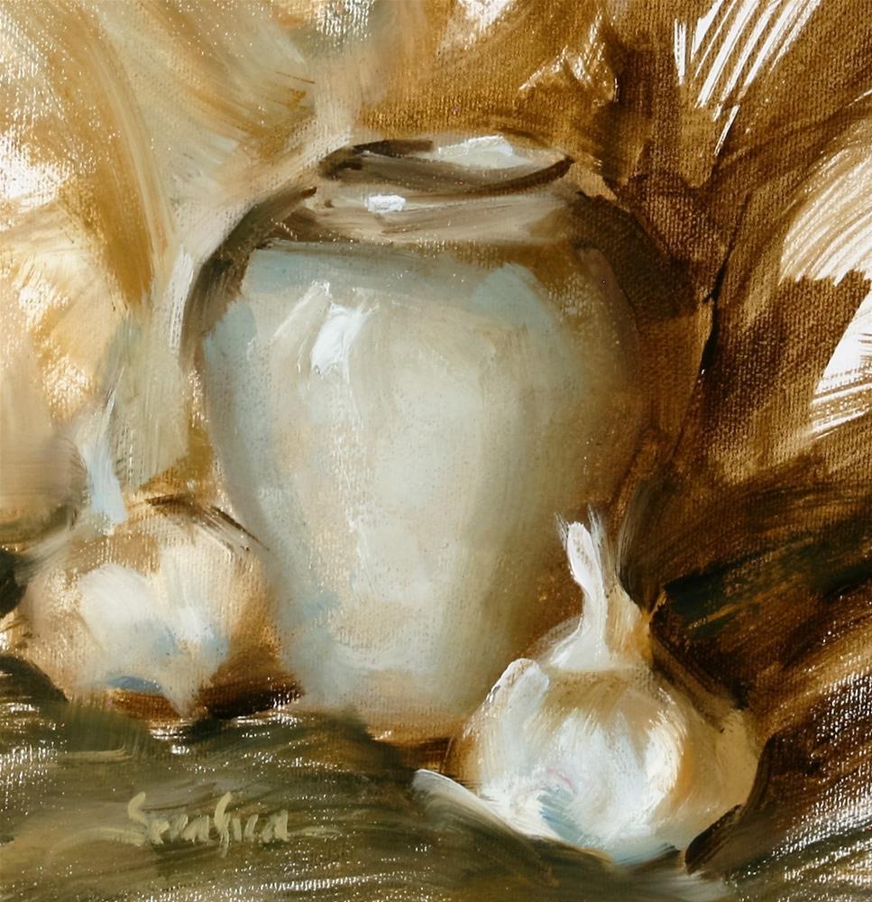"""Elegant Garlic"" original fine art by Scott Serafica"