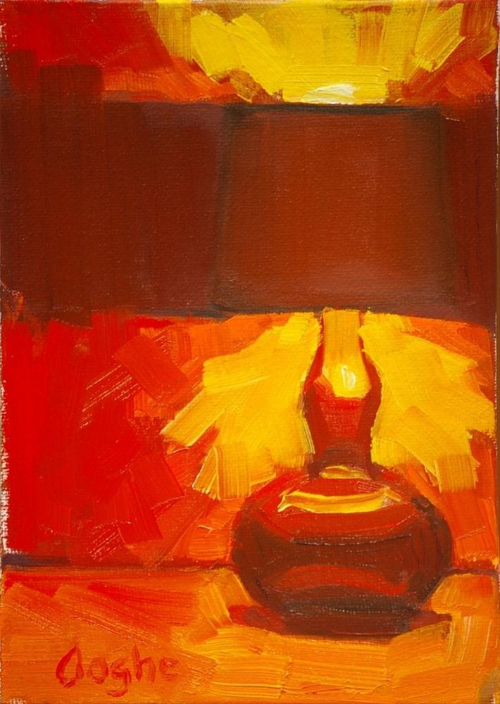 """Red Lamp"" original fine art by Angela Ooghe"