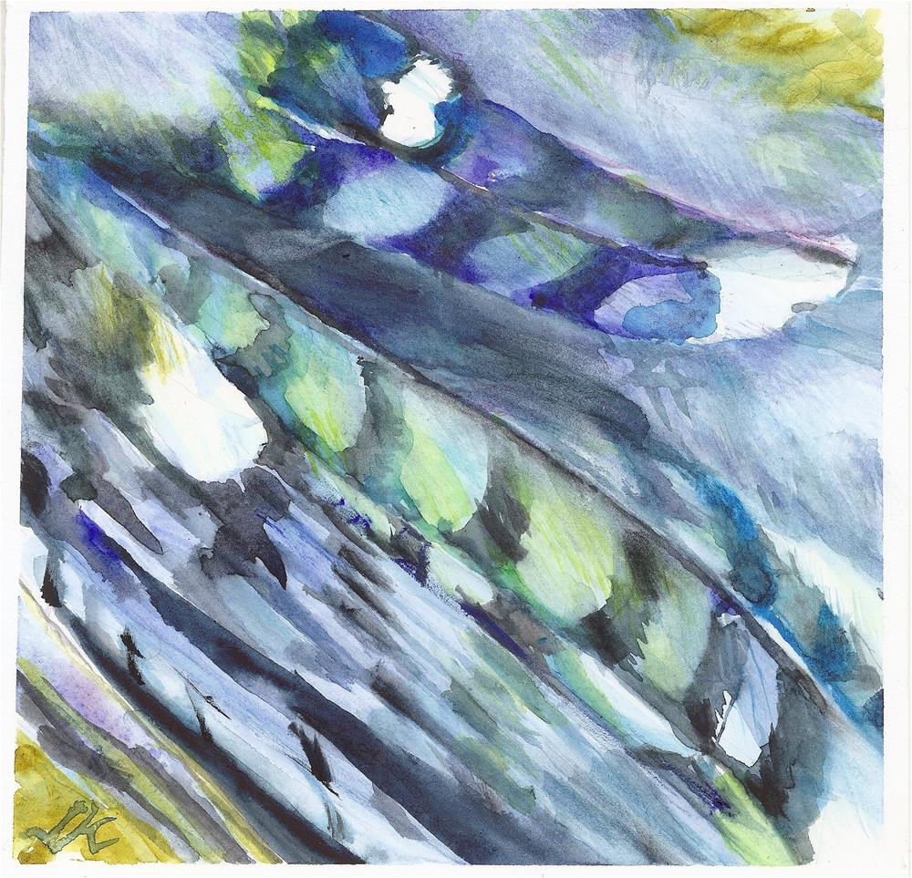 """Blue Jay"" original fine art by Jean Krueger"