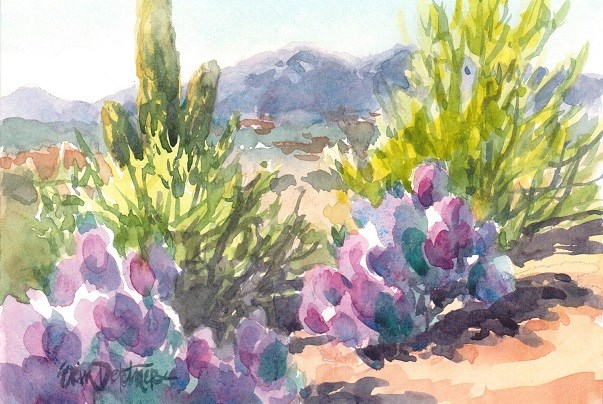 """Truly Tucson"" original fine art by Erin Dertner"