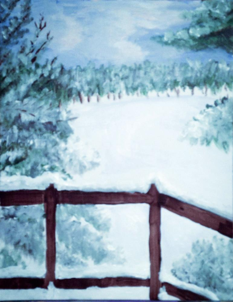 """Winter"" original fine art by Brenda Smith"