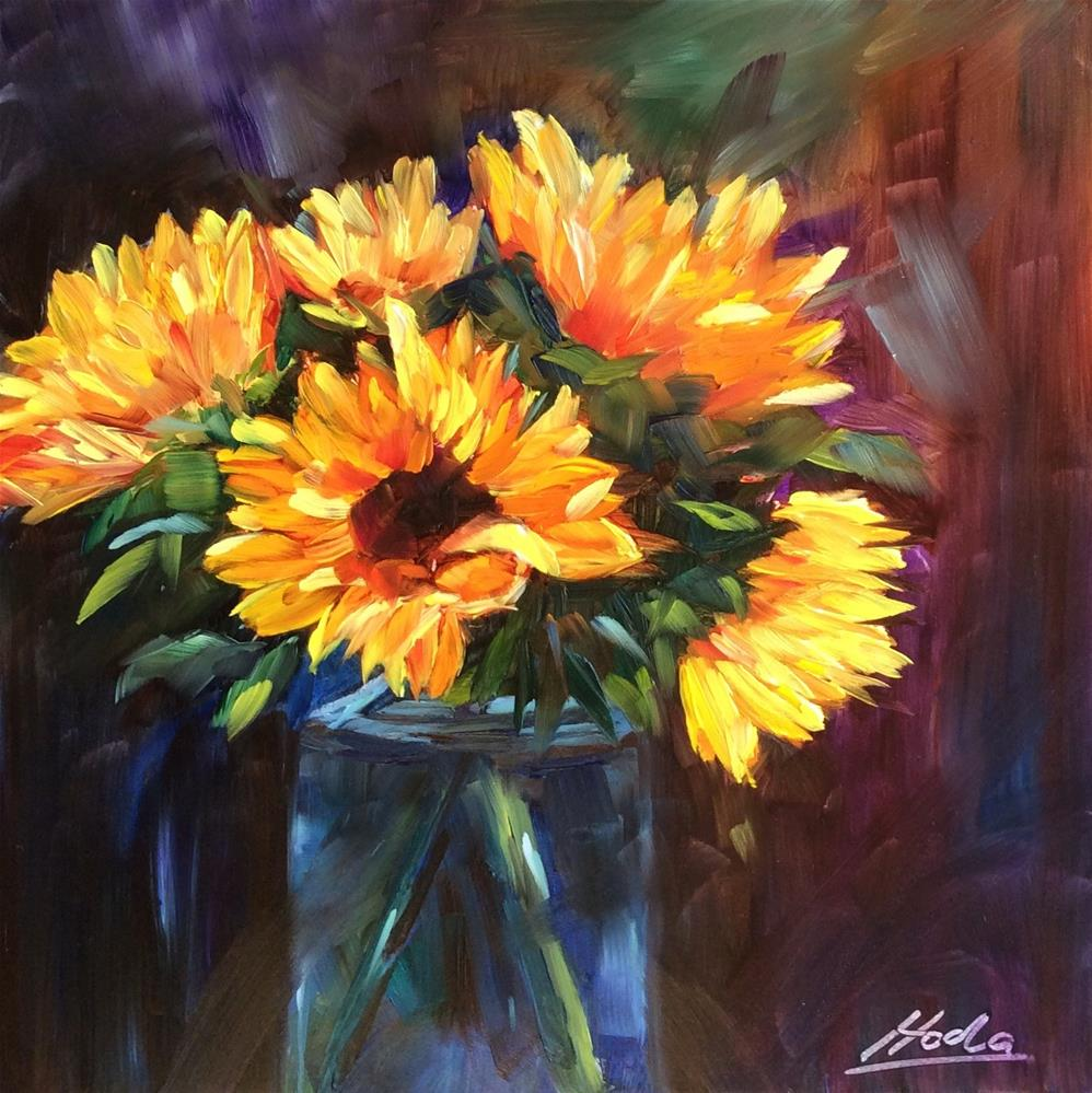 """""""A Cheerful Bunch"""" original fine art by Hoda Nicholas"""