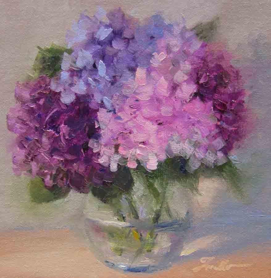"""""""Hydrangea Study"""" original fine art by Pat Fiorello"""