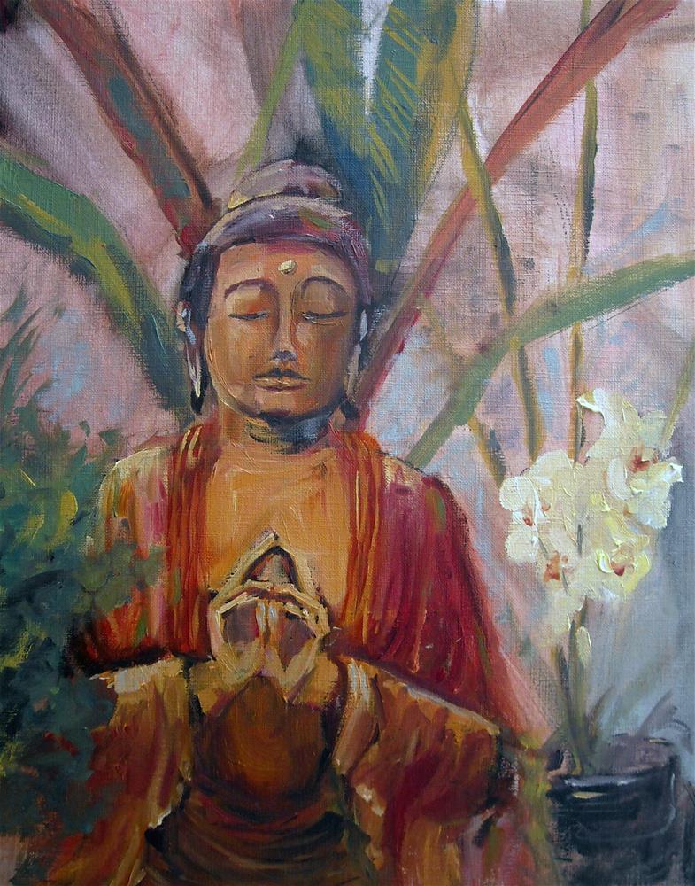 """Maui Buddha"" original fine art by Kathleen Barnes"