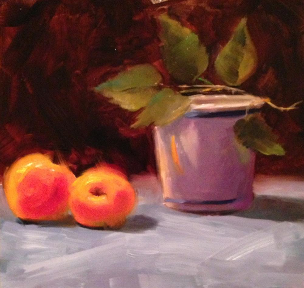 """Peaches"" original fine art by Dorothy Woolbright"