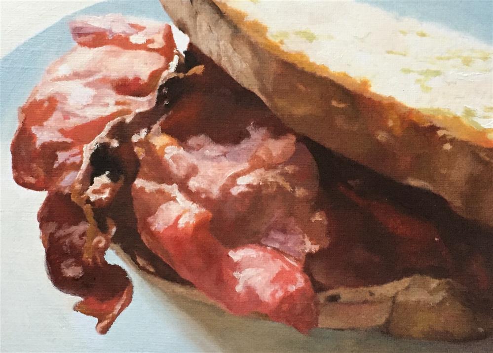 """Bacon Sarnie"" original fine art by John Cameron"